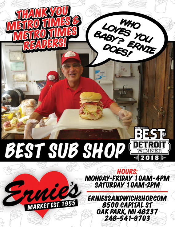 THANK YOU METRO TIMES & METRO TIMES READERS!  BEST SUB SHOP